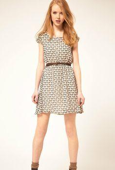 Fawn Print Vintage / SheInside #dress