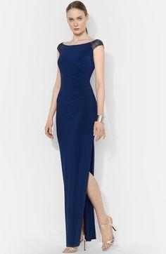 Lauren Ralph Lauren Beaded Jersey Gown available at #Nordstrom
