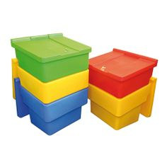 Model GCB100 #Grit #Bins Manufactured from #tough, medium density #polyethylene Hinged lids - protects grit/salt from the elements GCB100: fitted with barrel lock and key and is #nestable GCB200: fitted with 1 x hasp and staple (padlock not included) GCB400: fitted with 2 x hasp and staple (padlock not included) See more at: http://shop.hsil.co.uk/p-3659-grit-bins.aspx#sthash.L0tJZWef.dpuf