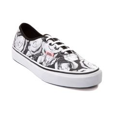 Shop for Vans Authentic Roses Skate Shoe in Black at Journeys Shoes. Shop today for the hottest brands in mens shoes and womens shoes at Journeys.com.Blossoming with fashionable floral, this trendy Vans Authentic features a black and white rose print canvas upper, black contrast piping, white lace closure with black eyelets, and vulcanized rubber sole with waffle tread.