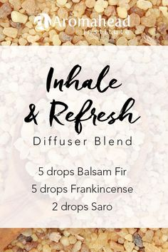 "Balsam Fir (Abies balsamea), Frankincense (Boswellia carterii) and Saro (Cinnamosma fragrans) share the same talent for reducing congestion. Diffusing them together complements their ability to reduce congestion, so nothing holds you back from having a great time and from being your best self!"" Click for more recipes with Balsam Fir!"