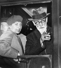 Sigmund Freud and his daughter Anna arrive in Paris after fleeing Vienna in ...