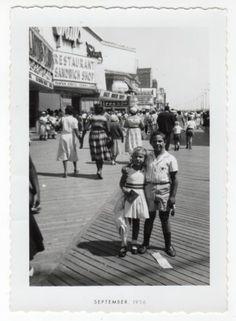 Vintage Photo Boy Girl Brother Sister Atlantic City Boardwalk 1950'S | eBay