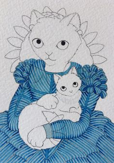 New kitty based on a Tudor portrait. The stripes look amazing and I haven't even highlighted them yet.