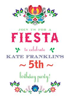 Send out this birthday invitation to invite your friends and invite friends and family to your fiesta birthday party invitation catprint filmwisefo
