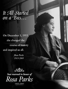 the transformation of a nation a rosa parks biography Montgomery bus driver james blake ordered parks and three other african americans seated nearby to move (move y'all, i want those two seats,) to the back of the bus three riders complied parks did not the following excerpt of what happened next is from douglas brinkley's 2000 rosa park's biography.