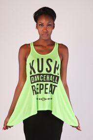 KUSH DANCEHALL REPEAT TANK TOP by Cooyah  $24 at Cooyah.com #Reggae #Neon