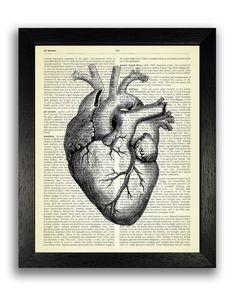 Black Heart Anatomy Poster Art, Gothic Wall Decor, Dark Goth Art Print, Anatomical Diagram Bedroom D Heart Illustration, Medical Illustration, Gothic Kunst, Anatomical Heart Drawing, Art Goth, Illustrations Médicales, Human Anatomy Art, Heart Anatomy, Heart Poster