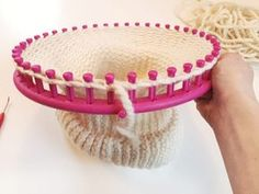 Loom Knit: Double Brim Beanie Tutorial : Learn To Loom Knit: Double Brim Beanie Tutorial Loom Knitting Stitches, Loom Knit Hat, Loom Knitting Projects, Loom Knitting Patterns, Crochet Patterns, Knit Beanie, Loom Crochet, Knifty Knitter, Loom Knitting For Beginners