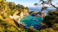 McWay Falls, Big Sur, California jigsaw puzzle in Waterfalls puzzles on TheJigsawPuzzles.com
