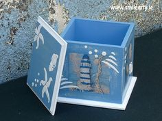 Handmade box for small accessories or candy and little treats made with decoupage. It's a stunning and unique gift that lightens up any room in the house. White Sea, Blue And White, Unique Gifts, Handmade Gifts, Dublin, Decoupage, Gifts For Her, Box, Home Decor