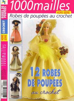 1000 MAILLES BARBIE - Daniela Muchut - Álbuns da web do Picasa...lots of beautiful Barbie clothes with free diagrams!!