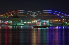 Sault Ste Marie, Michigan | 50th anniversary, international bridge, sault ste. marie, michigan ...