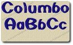 Columbo Alphabet Embroidery Design by 8Clawsandapaw.com