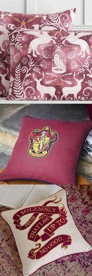 Harry Potter Throw Pillows Galore!! #harrypotter #throwpillows #ad #shopthelook