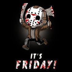 It's Friday! - This official Friday the 13th t-shirt featuring Jason Voorhees is only available at TeeTurtle!