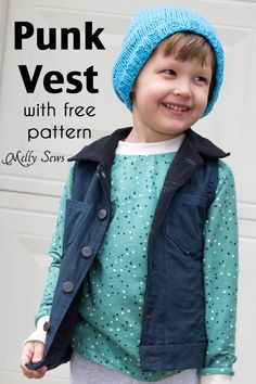 Sew a vest with punk vibes with this free boys vest pattern