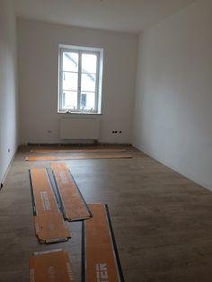 Der Fußboden wird gelegt