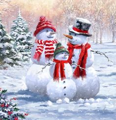 Christmas Scenes, Christmas Snowman, All Things Christmas, Christmas Time, Vintage Christmas, Christmas Crafts, Merry Christmas, Christmas Decorations, Snowman Images