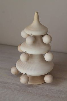 This is a beautiful wood carved Christmas tree. It would be a great craft to paint and add to my Christmas decor. Wooden Christmas Trees, Christmas Crafts, New Years Decorations, Christmas Decorations, Christmas And New Year, Carving, Diy Crafts, Paint, Holidays
