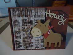 Handmade card western themed birthday card by HappyChicCreations, $3.95