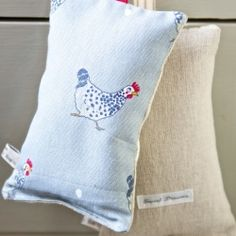 Lavender Sleep Pillow - Chickens and eggs