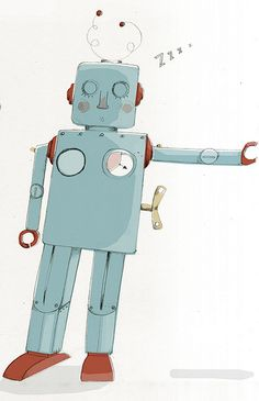 sleepy robot by Kristyna Litten, via Flickr