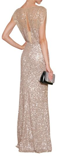 Love this Jenny Packham sequin dress! @pamela_joyce56 - maybe a wedding option for you eventually?