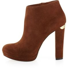 Women's Haven Bootie - MICHAEL Michael Kors ($136) ❤ liked on Polyvore featuring shoes, boots, ankle booties, heels, ankle boots, booties, high heel bootie, platform ankle boots, high heel ankle booties and heeled ankle boots