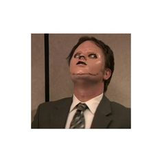 In part two of The Office's 'Stress Relief' episode Dwight cuts the face off the Red Cross dummy in order to see if it's as easy as it looks in Silence of the Lambs. The Office Dwight, The Office Show, Best Office Quotes, Reaction Pictures, Funny Pictures, Office Jokes, Funny Office, Office Icon, Office Wallpaper