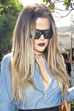 How to wear dark lipstick: Khloe Kardashian
