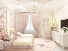 Children's bedroom in a pink palette - Luxury Antonovich Design Luxury Bedroom Furniture, Home Bedroom, Modern Bedroom, Bedroom Decor, Bedroom Interiors, Kids Bedroom, Red Bedroom Design, Girl Bedroom Designs, Luxury Homes Interior