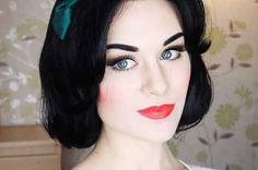 13 Easy Makeup Tutorials To Channel Your Favorite Disney Princess, Snow White came out pretty awesome.