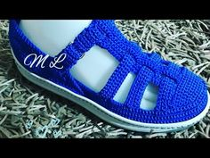 ZAPATO TEJIDO EN CROCHET - MODELO JULIANA - YouTube
