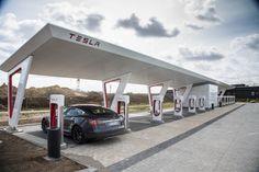 Model S in Tesla Charging Station