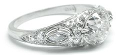 Estate Jewelry Engagement Rings | ... style diamond engagement ring the ring is set with an old mine cut