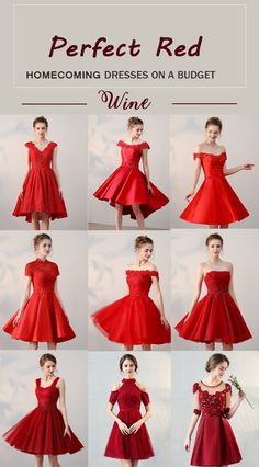 Perfect red homecoming dresses