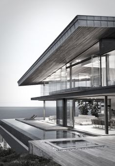 horizontal steel and glass