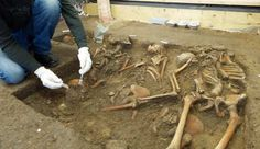 Grave of dead from the Battle of Lutzen examined by archaeologists.  http://www.thelocal.de/sci-tech/20120324-41541.html
