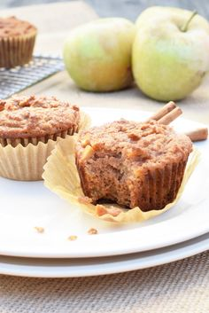 These apple cinnamon muffins are my absolute favorite thing right now! Muffins always take me right back to my childhood when I would eat those giant