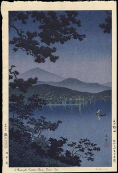 Koitsu, Tsuchiya (1870-1949) - A Midnight Scene at Atami, Famous Spa - 夜の熱海