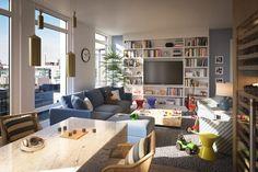 US$ 20 milhões / 470 m² = 70 Vestry,  Nova York, no bairro luxuoso de Tribeca,  Cada residência realça a vista, seja de frente para o rio, as ruas de Tribeca, ou o terraço privativo