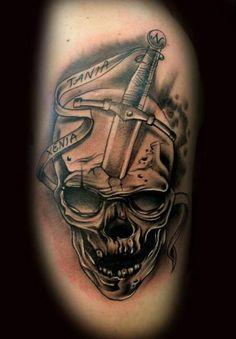 2a733b4fbac99 37 Best Shoulder Skull Tattoos images in 2017   Skull tattoos, Sugar ...