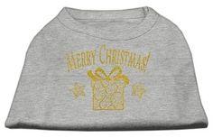 Golden Christmas Present Dog Shirt Grey Med (12)