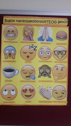 Okul rehberlik panosu- teog motivasyon-emoji School counseling bulletin board about exam motivation by emojis