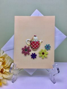 A personal favorite from my Etsy shop https://www.etsy.com/listing/511847583/teapot-card-just-because-card-thinking