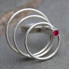 Spinning Ring Sterling Silver Spinning Ring by lsueszabo on Etsy, $285.00