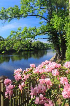 Spring Photograph - Shelburne Falls Deerfield River And Bridge Of Flowers by John Burk Beautiful Nature Pictures, Beautiful Nature Wallpaper, Amazing Nature, Beautiful Landscapes, Beautiful World, Beautiful Flowers, Scenery Photography, Spring Photography, Landscape Photography