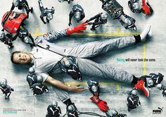Publicidad de Puma con Michael Schumacher #nosinspiran #puma