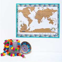 Head to our blog to read our step by step guide to framing a Scratch Map with washi tape - link in bio ☝☝☝ #ScratchMap #WashiTape #MondayMotivation #Map #InteriorInspiration #InteriorDecor #InteriorDesign #ColourPop #WashiAddict #Washi #Stripes #Spots #travellife #travelplans #TravelAddict #takemethere #wanderlust #decor #letsgo #travelswag #Travel #MyScratchMap #Craftsposure #LuckiesOfLondon